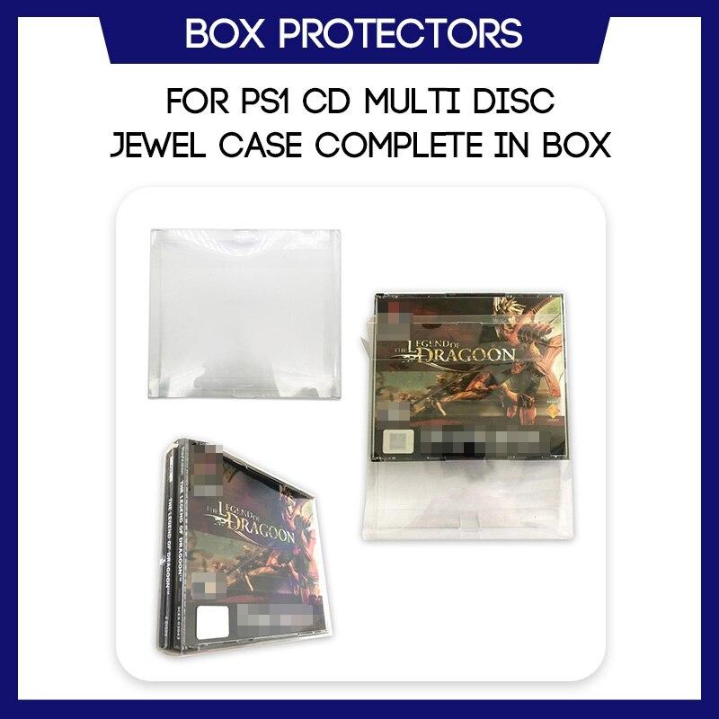 Box Protector For PS1 CD Multi Disc Jewel Case CIB Complete In Box Game Custom Clear Plastic Case
