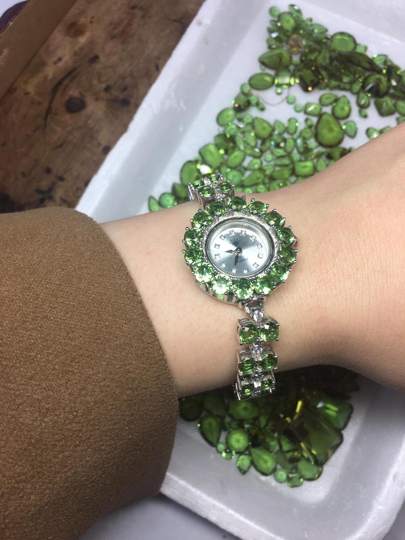 Handmade Zultanite Silver Quartz Watch for Women , Color Changing Zultanite Watch, Silver Handmade Zultanite Watch