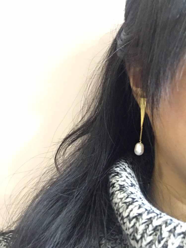 Где купить Lotus Fun реальные стерлингового серебра 925 натуральный жемчуг ручной работы Fine Jewelry треугольник Water Drop Висячие серьги для женщин