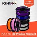 ICHTANK  20 цветов  Высококачественная брендовая нить для 3d принтера  1 75  1 кг  PLA  ABS  дерево  TPU  PetG  PP  PC  металлические Пластиковые Нити