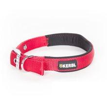 Kerbl Collar de Nylon para Perros con Herrajes de Acero Color Rojo 53-61 centímetros