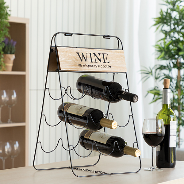 Folding Bottle Rack Poetry (9 Bottles)