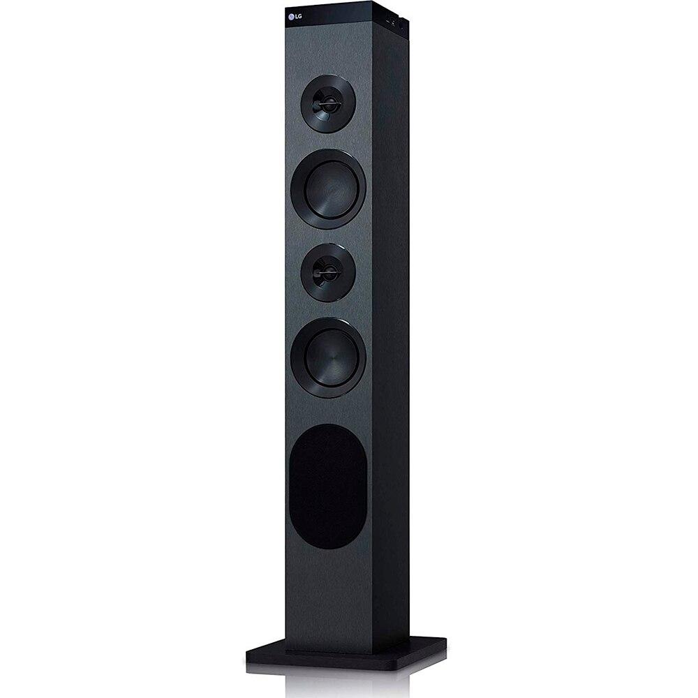 LG XBOOM RL3 Tower sound 130W power system audio dla domu (czarny, monotonny, 30 W, FM, PLL, 87,5-108 MHz)