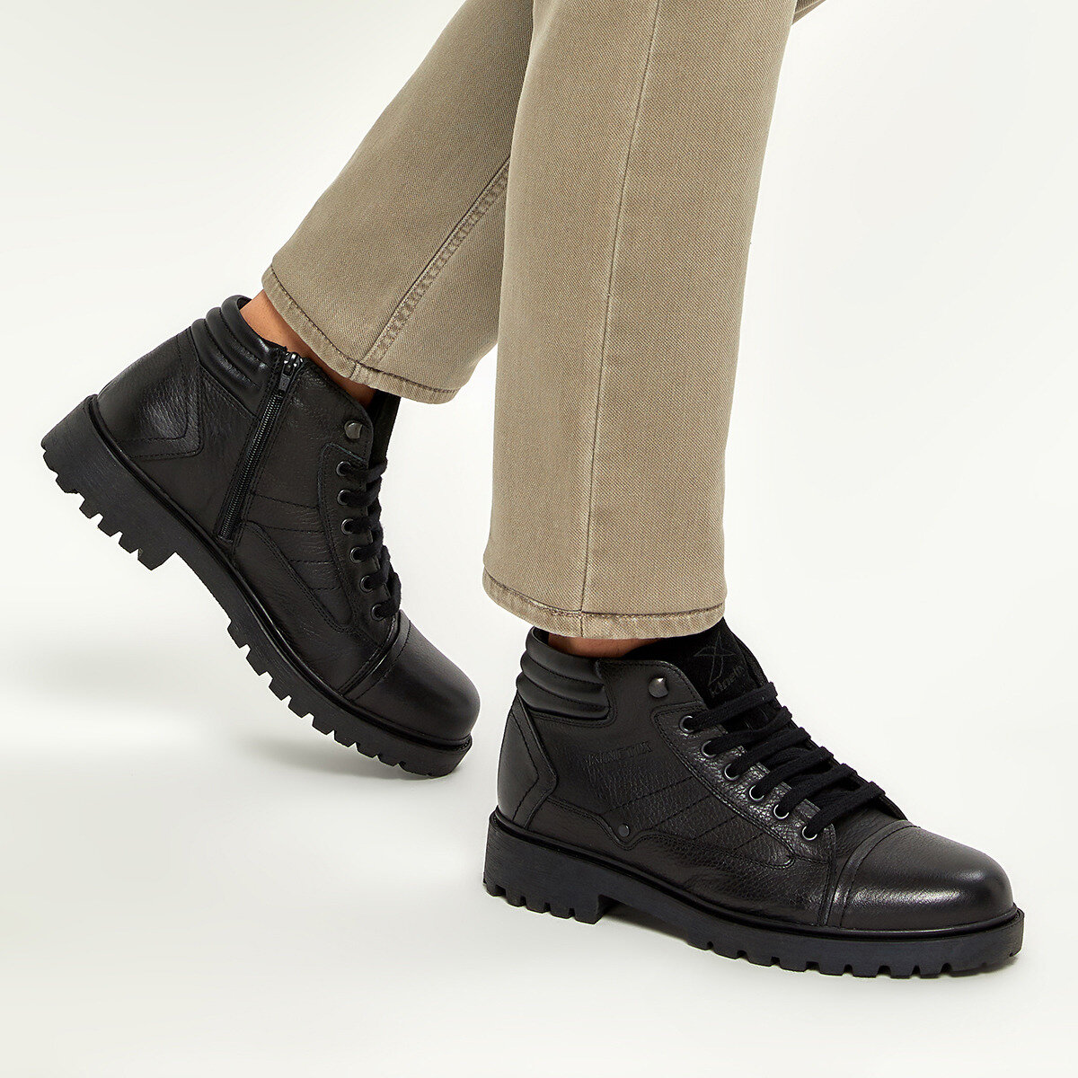 FLO KENTON Black Men Boots KINETIX