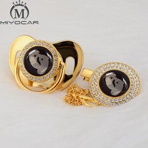 Image 4 - Милая Золотая, серебряная, красивая, золотая, блестящая Соска пустышка миокар без бисфенола А