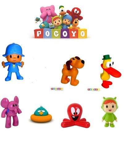FIGURE POCOYO COMANSI And BULLYLAND ELLIY ,LOULA, Duck, FOR CHILDREN CUMPLEAÑO Gift