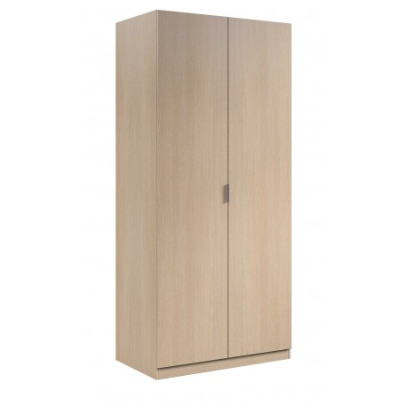 Wardrobe 2 Doors Oak Or White 81 Cm Wide
