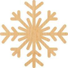 Снежинка 4 деревянный лазер вырезанная форма-отлично подходит для крафта-Hobbyist-D.I.Y. Проекты