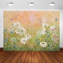 Новорожденный летний цветочный фон картина маслом цветок ребенок