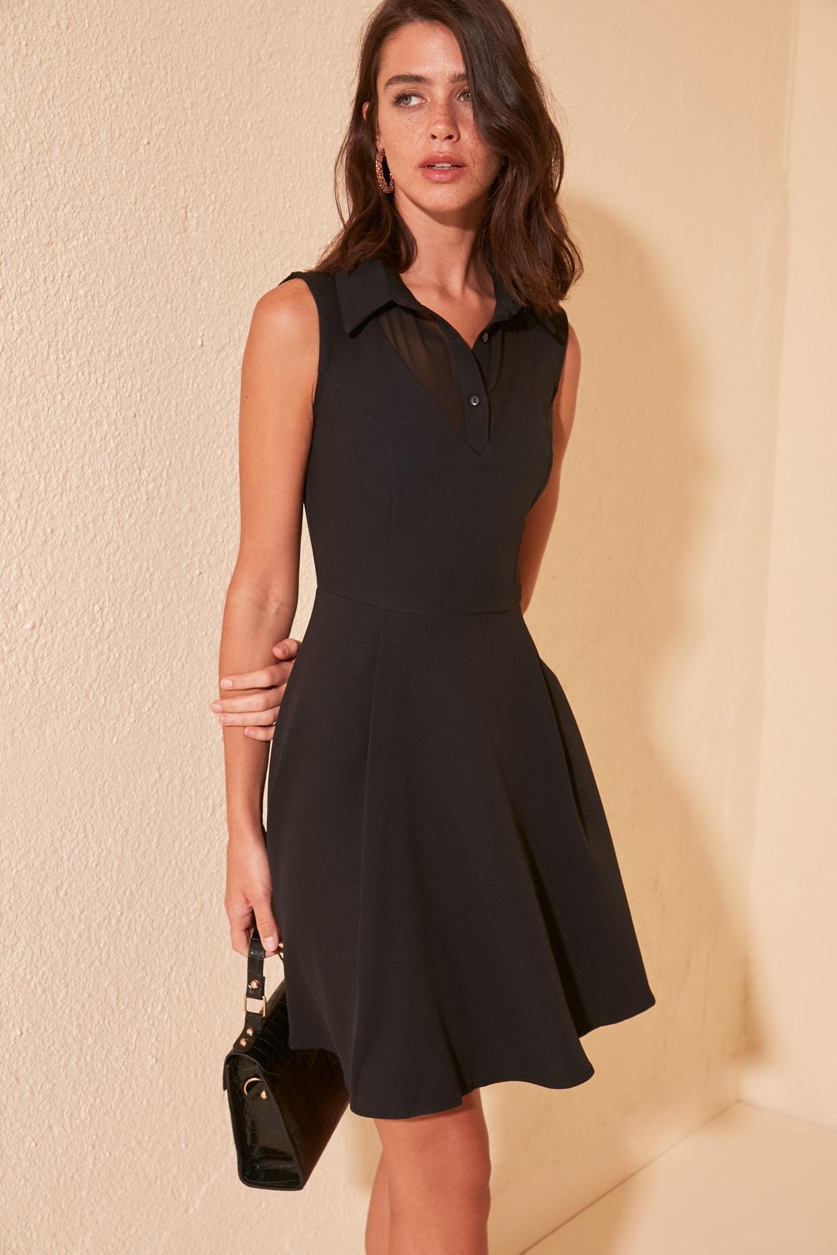 Trendyol Collar Detail Dress TWOSS20EL0470