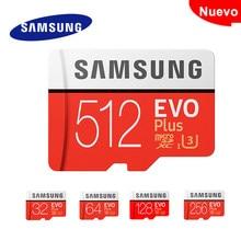 SAMSUNG tarjeta de memoria Micro SD de 512GB 256GB 128GB 64GB 32gb Microsd de SDHC SDXC grado EVO + Clase 10 UHS TF tarjetas SD