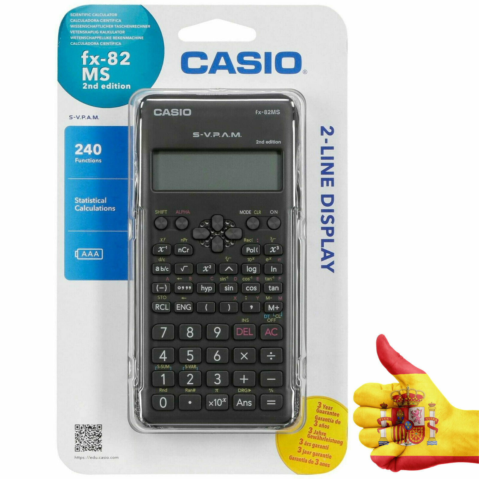 CASIO Calculator FX-82MS2 Middle School's Student Chemistry Math SAT/AP Exam Scientific Calculator Children Science