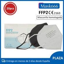 Mascarilla ffp2 negra con Ce tapaboca homologado con envio desde españa MASK666
