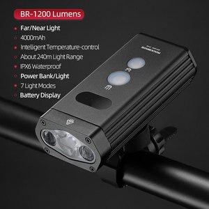 Image 1 - ROCKBROS Bicycle Bike Light Front 1800Lm Headlight 2 Leds Rechargeable Cycling Lamp Lantern Flashlight For Bicycle Accessories