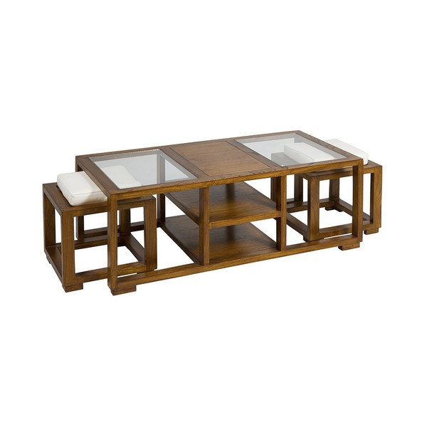 Centre Table Mindi Wood Plywood (120 X 60 X 44 Cm)