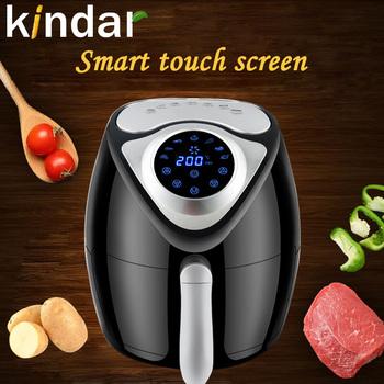 Frytownica powietrzna Smart Touch Screen nieprzywierająca zdrowie bez oleju deser 3 5L 1300W agd niskotłuszczowe urządzenia do pizzy pieczenie kuchenka tanie i dobre opinie Kindar CN (pochodzenie) KD-3302TS 1300 W 220-240 v 3 2L