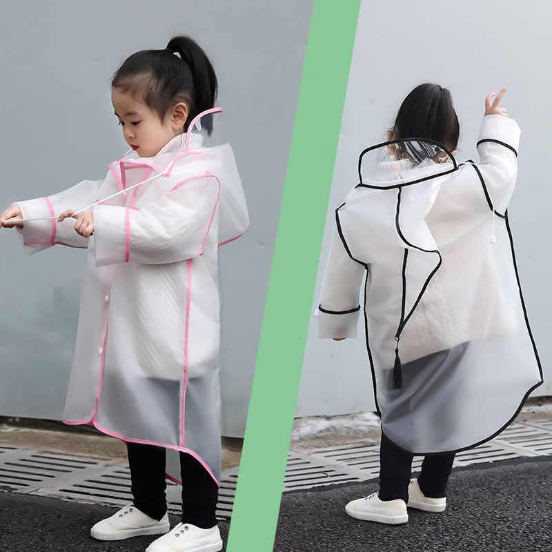 Детский дождевик для девочек детский плащ водонепроницаемый прозрачный дождевик для студентов пончо открытый плащ