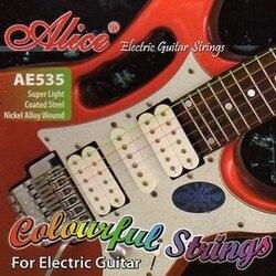 مجموعة أوتار Ae535c للجيتار الكهربائي ، النيكل ، 9-42 [12] أليس