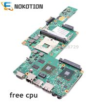 NOKOTION For Toshiba satellite L630 Laptop motherboard HD4500 HM55 DDR3 Free cpu 6050A2338501 MB A03 V000245110 1310A2338522