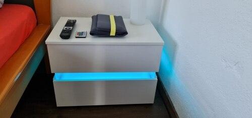 RGB LED Bedroom Nightstand Table