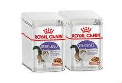 Royal Canin Sterilised влажный корм для кастрированных котов и стерилизованных кошек (кусочки в соусе, 24 пакетика по 0.085 г)