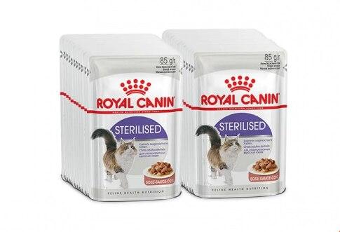 Royal Canin Sterilised пауч для кастрированных котов и стерилизованных кошек (кусочки в соусе), Cat Food, For Cats,(24 пауча)