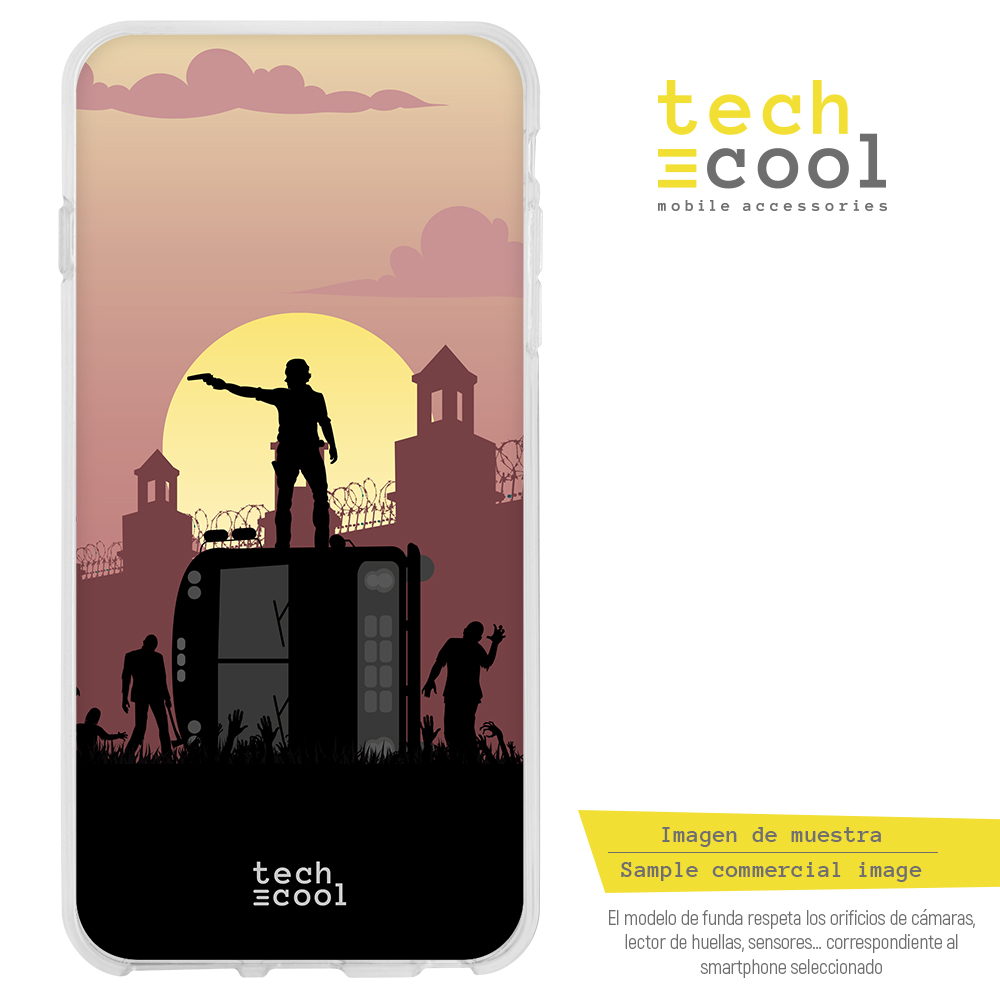 FunnyTech® Funda Silicona para LG G6 The walking Dead vers.1
