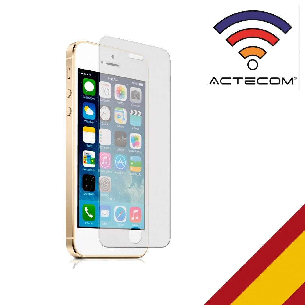 Actecom Protector Pantalla Cristal Templado Para IPHONE 5 5S 5C SE SE2 6 6S 7 8 11 PLUS X XS 11 PRO 11 PRO MAX