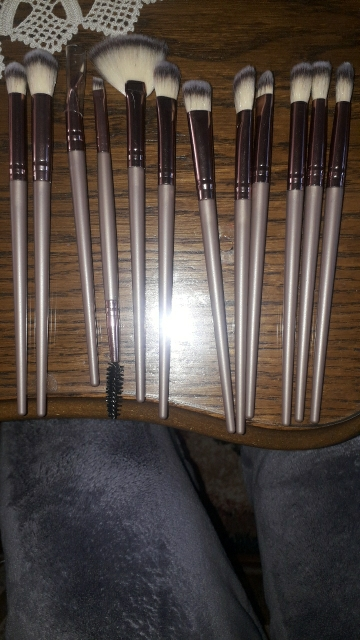 12PCS Makeup Brushes Set Eye Shadow Eyeshadow Brushes Foundation Extension Make up Brush Kits pincel Maquiagem For Makeups Tools photo review