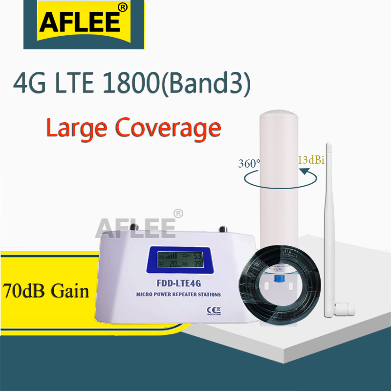 70dB Gain 4G Cellular Amplifier 1800 Gsm Repeater 2G 4G Booster FDD LTE GSM 1800Hz Band3 4G DCS LTE 1800 Mobile Signal Booster