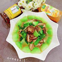快手鲜美的素菜——鸡汁香菇青菜+太太乐鲜鸡汁芝麻香油的做法图解14