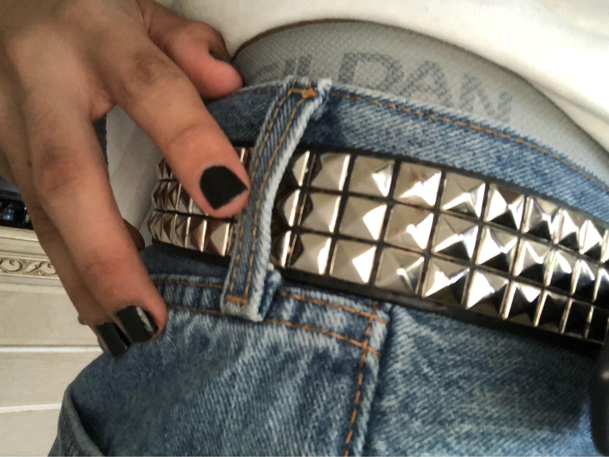 Egirl Eboy Punk Belt with Pyramid shape Rivets photo review