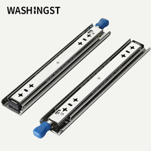 Hot Heavy Duty Full Extension with Lock Drawer Slides Loading 120kg Ball Bearing Furniture 53mm Drawer Runners