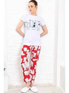 Trend Alacati Style Women Printed Pajamas set ALC-X3964