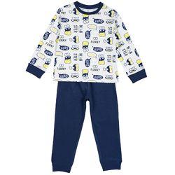 Пижама Chicco, принт Funny Monster GRRR, длинный рукав, для мальчиков, цвет белый