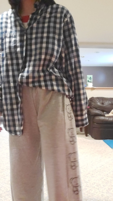 Wide Leg Pants with Cartoon Print E-girl Punk photo review