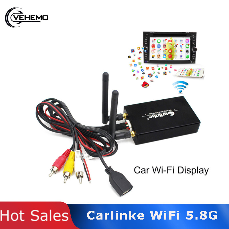 5.8G / 2.4G Car WiFi Wireless Display Mirroring Link For Car Home Video Audio Miracast DLNA Airplay Auto 1080P HDTV Phones