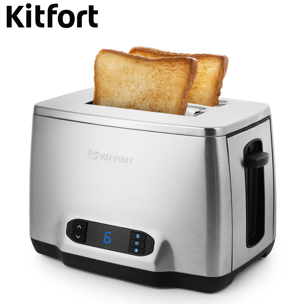 цены Toaster Kitfort KT-2013 Toaster sandwich home kitchen appliances cooking fry bread to make toasts Bread Maker grill