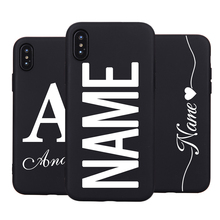 Personalised Name Initials Extreme Soft Liquid Silicone Case For