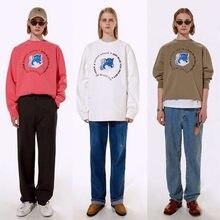 Beste Qualität Fuchs Adererror Maison Kitsune Sweatshirts Männer Frauen Blau Geisterbilder Fuchs Stickerei MAISON KITSUNE Ader Fehler Hoodie