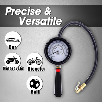 LEMATE Pro Metal Tire Inflator with Tire Gauge 220 PSI Dual Air Tire Inflator Car Truck Motorcycle with Tyre Inflator Air Chuck