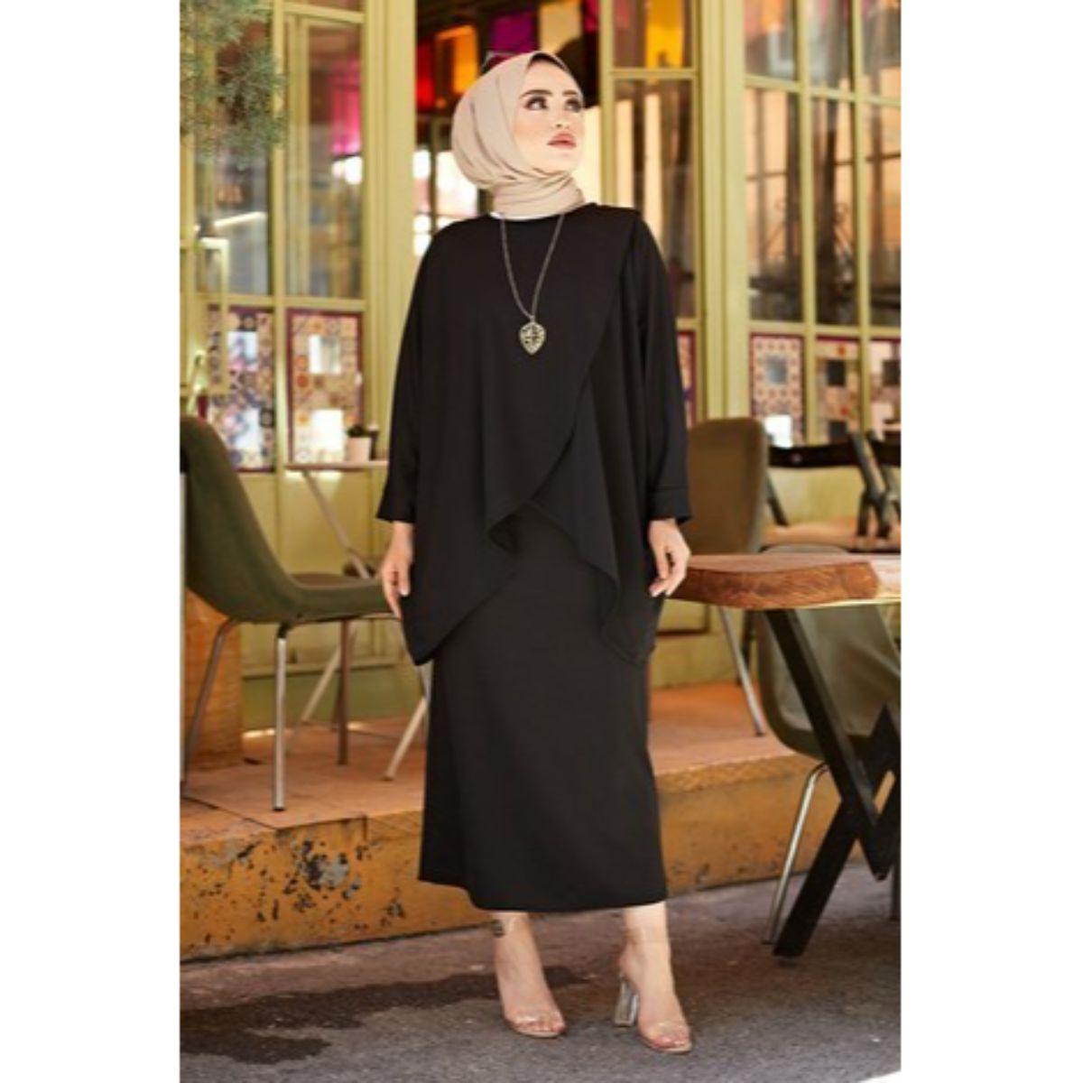 Muslim Double Team Muslim Fashion Abaya Caftan Kaftan İslamic Clothing Turley Dubai 2021 Fashion Women Clothing