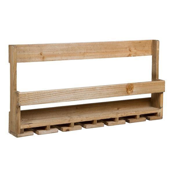 Bottle Rack Fir Wood (80 X 11 X 40 Cm)