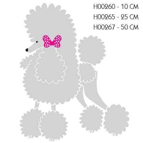 ADHESIVE Standard Poodle With TIE ADHESIVE Standard Poodle WITH TIE 50 CM BLACK