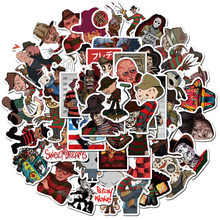 10/50PCS Horror Movie Stickers Freddy Krueger the Joker Scrapbook Cartoon Sticker Suitcase Luggage Notebook Laptop Graffiti Toy