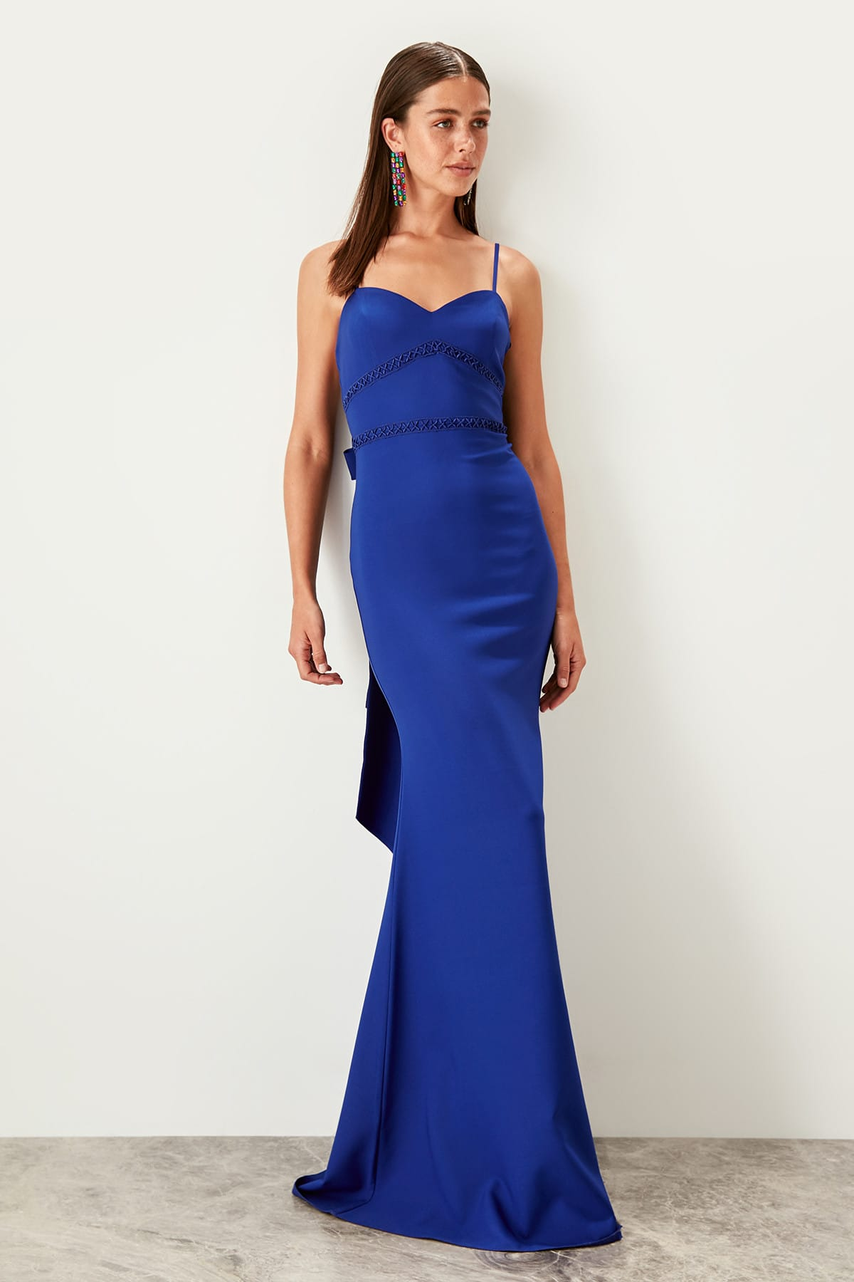Trendyol Bow Detailed Evening Dress TPRSS19BB0363