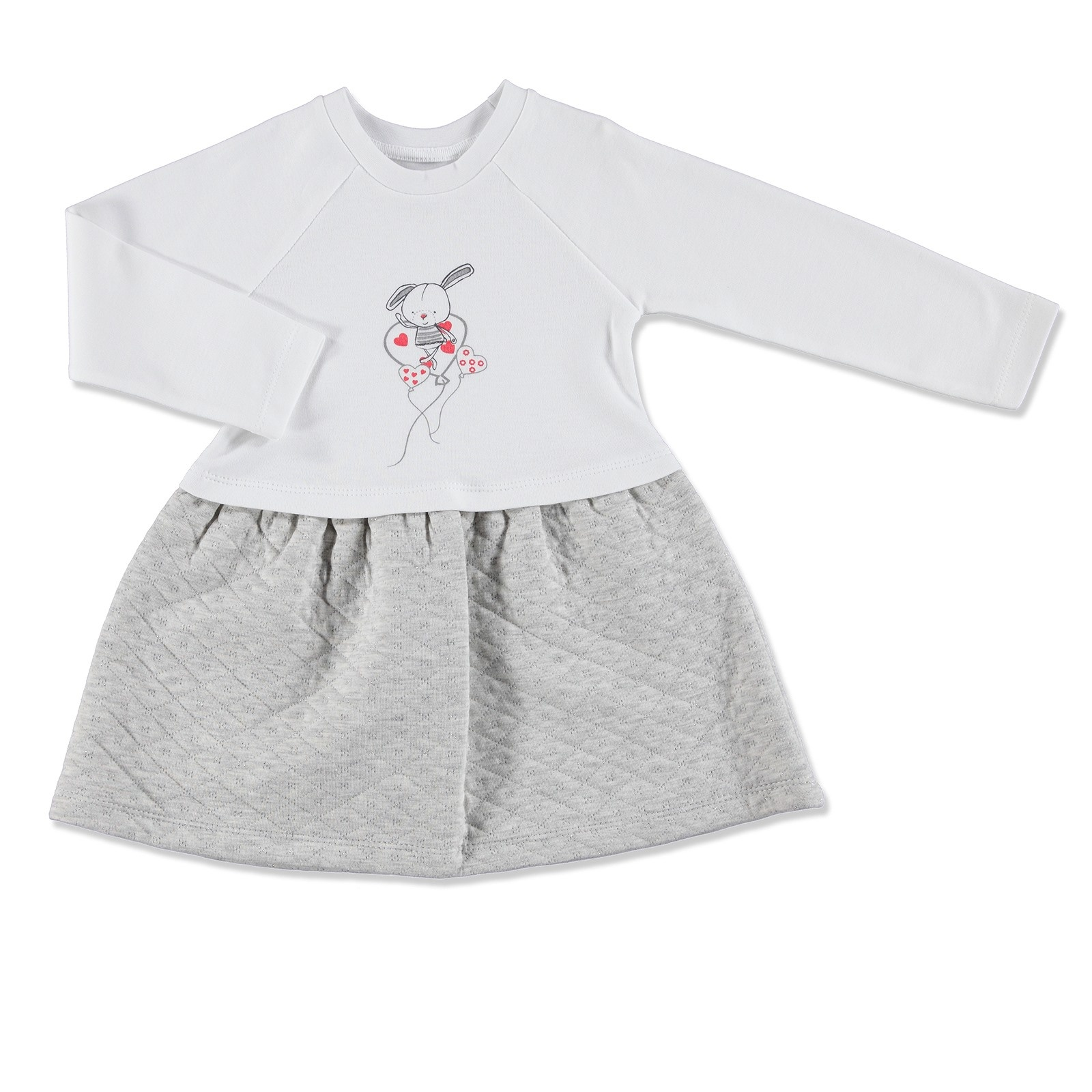 Ebebek HelloBaby Rabbit Theme Baby Girl Dress