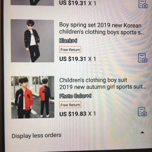 Conjuntos de roupas Crianças Coreanas Meninos