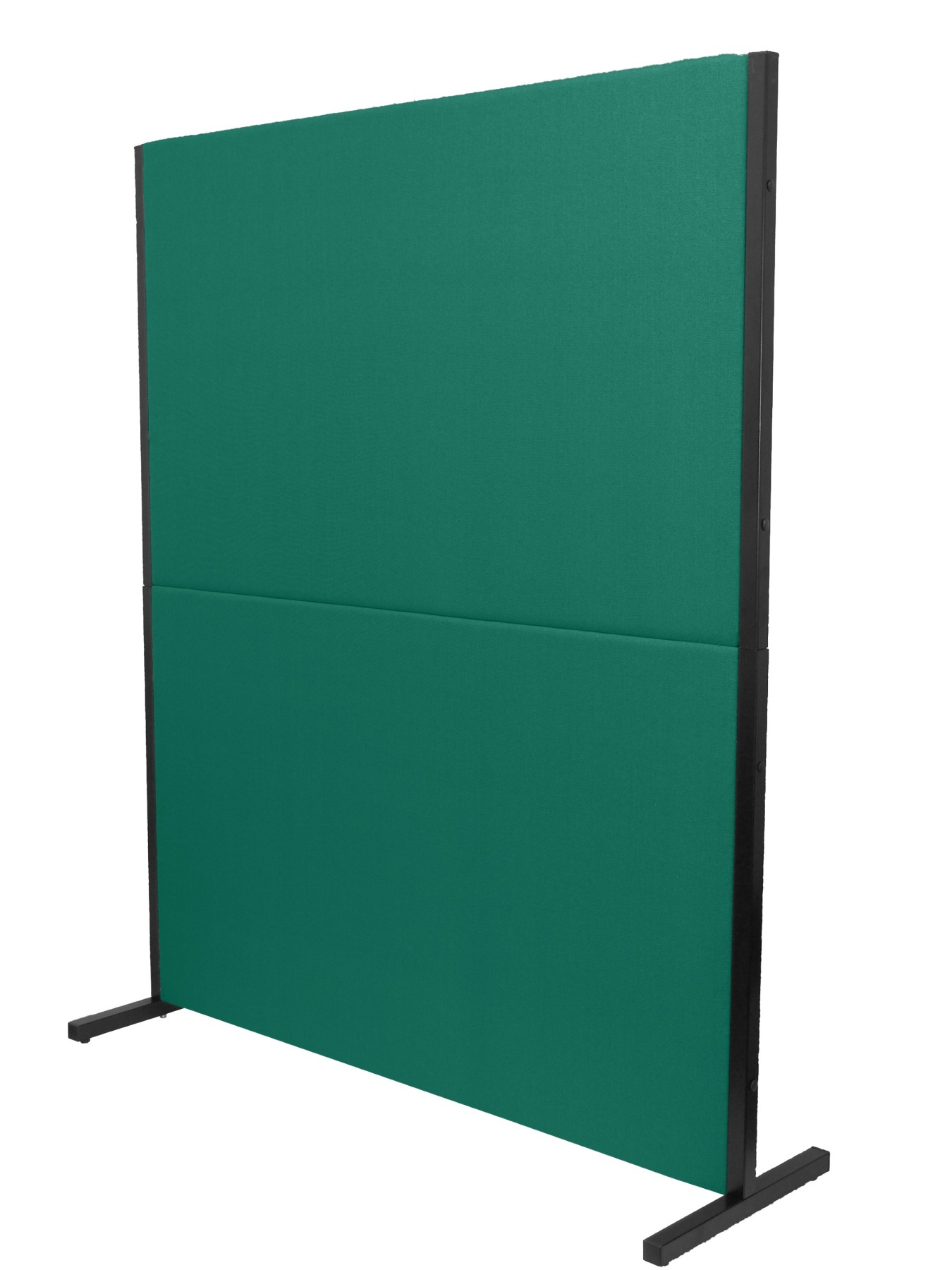 Folding Screen Separator For Offices And Working Centers, Detachable And With Black Color Structure Upholstered In Tissue BAL