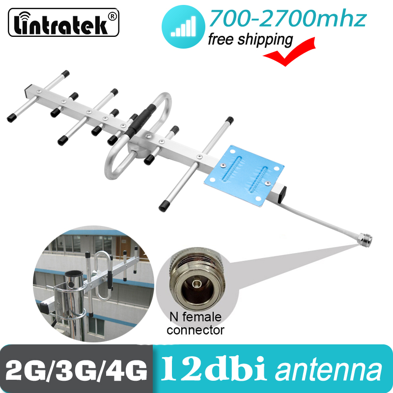 2G 3G 4G Antenna Outdoor For Signal Repeater GSM LTE WCDMA 698mhz ~ 2700 Mhz External Cellphone Direction 12dbi External Antenna